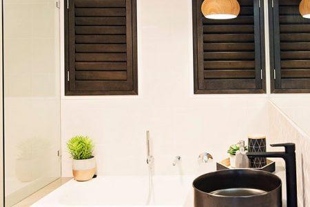 3. Timber Stained Shutters Rockhampton & Sunshine Coast
