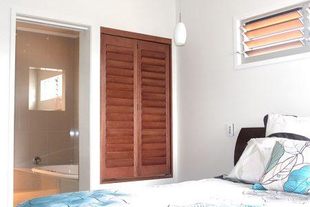 6. Timber Stained Shutters Rockhampton & Sunshine Coast