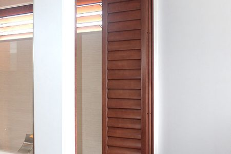 1. Timber Stained Shutters Rockhampton & Sunshine Coast
